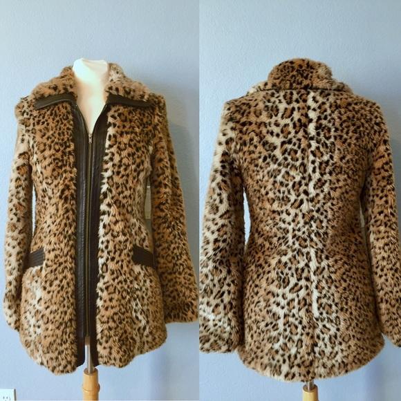 b00434f6dfc7 Bardot Jackets & Coats | Leopard Print Faux Fur Coat | Poshmark